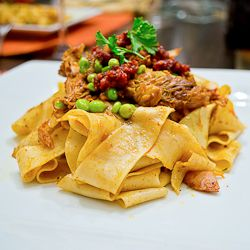 Pappardelle with 'Nduja and Rabbit