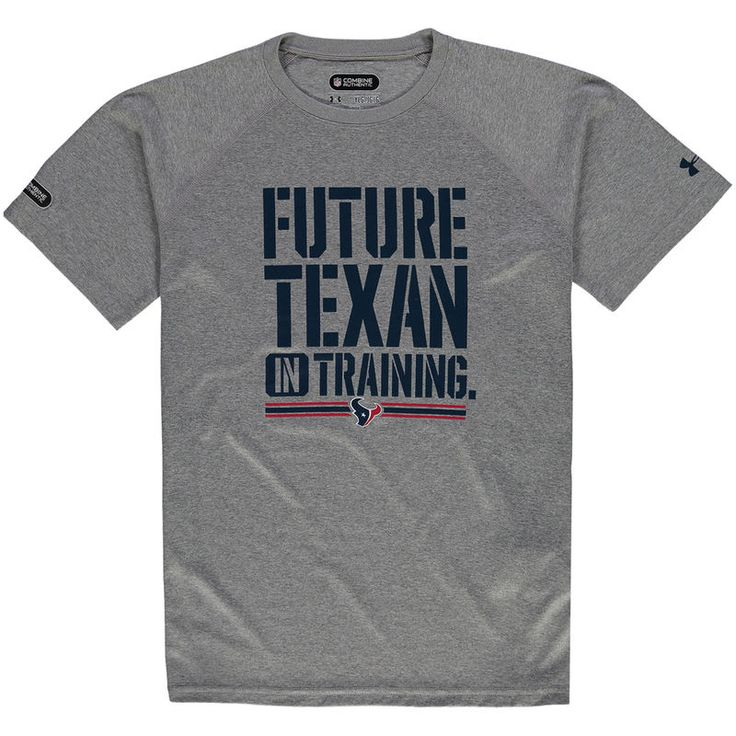 Houston Texans Under Armour Youth NFL Combine Authentic Future Tech Performance T-Shirt - Gray