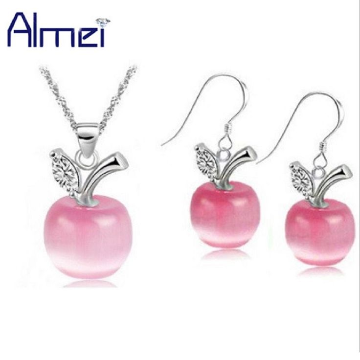 Find More Jewelry Sets Information about Almei 49% off Green Pink Wedding 925 Silver Earrings Women White Crystal Bridal Jewelry Sets Red Necklace Blue Bijoux Set YL007,High Quality jewelry atlanta,China set house Suppliers, Cheap jewelry castings for sale from ULove Fashion Jewelry Store on Aliexpress.com