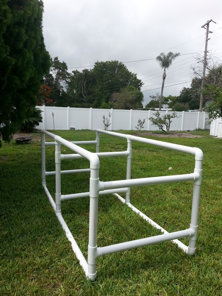 """Constructed of 2"""" PVC for weight support. This stand was built to occupy 2- 70…"""