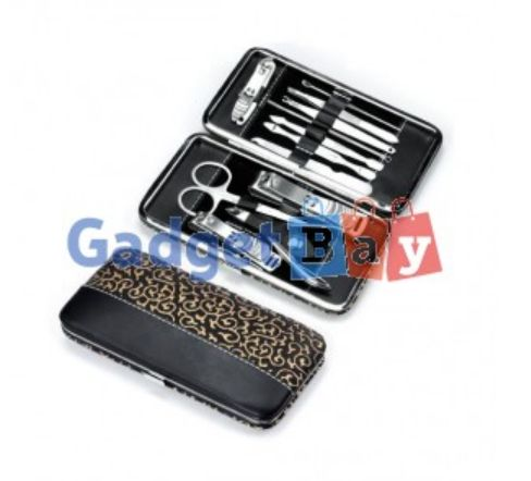 12pcs Manicure Pedicure Nail Stainless Steel Clippers Scissors Grooming Set Buy it on www.gadget-bay.com Free Shipping Europe wide