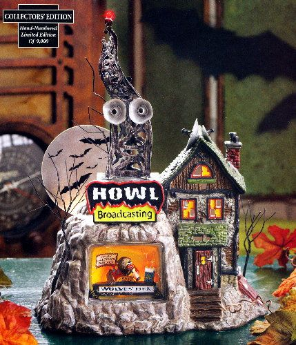limited edition to from the department 56 original snow village halloween series and a deli