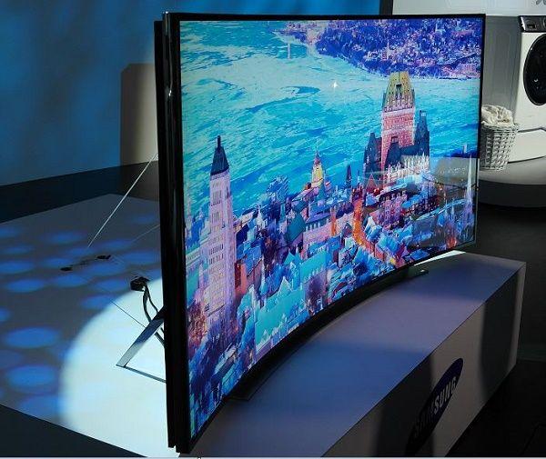 Samsung UHD TV Serie U9000 de pantalla curvada, resolución 4K y formatos de 78 pulgadas, 65 y 55 pulgadas.