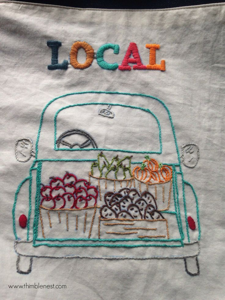 fresh produce--3 free embroidery patterns