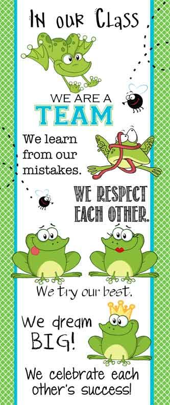 FROG Theme Classroom Decor/ Character Education Banner / Large / In Our Class / JPEG / ARTrageous FUN