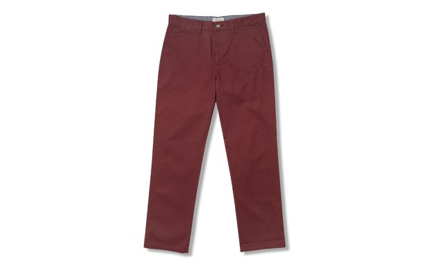 Burgundy Chino  W32 L32 - Tu Clothing At Sainsbury's - Style No. 124460244 - a bargain at £14 and even more so with 25% off, making them £10.50 a pair.