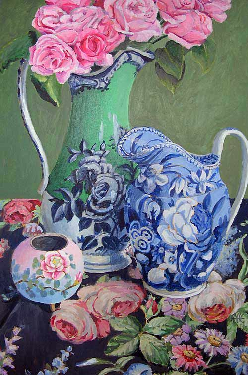 blues and pinks and greens...my favorites...kaffe fassett