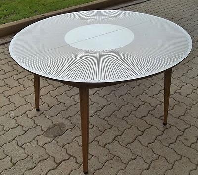 Mid Century Drexel Hairpin Starburst Dining Table