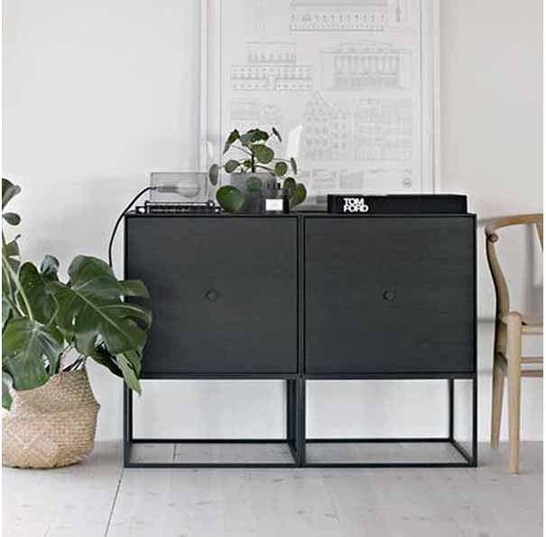@ de SOOOstore: de design dressoir kasten Frame. In zwart, wit, grijs, eikenhout en groen. Handig als nachtkastje of naast de bank.http://www.sooo.nl/store/product/module-kast-frame-by-lassen-sideboard-sooo-nl/: