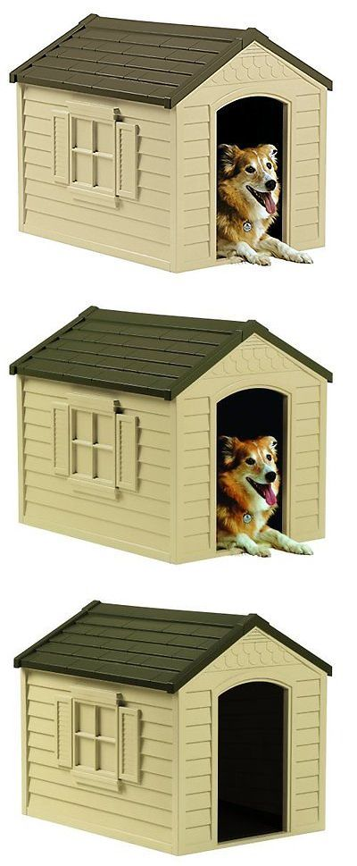 Dog Houses 108884: All-Weather X-Large Outdoor Pet Dog House Shed Shelter Durable Resin Home Cover BUY IT NOW ONLY: $72.76