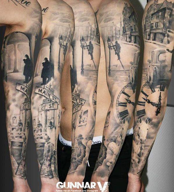Sleeve Tattoo by Gunnar V Tattoo | Tattoo No. 12869