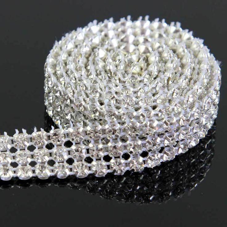 1 Yd Crystal Rhinestones Trim Party Bridal Dress Costume Belt Fashion New Decor