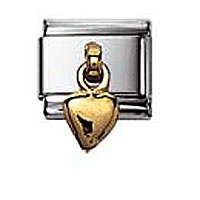 Nomination Heart Charm 2K Gold pendant charm | Contemporary Jewellery at Affordable Prices | Xen Jewellery Design