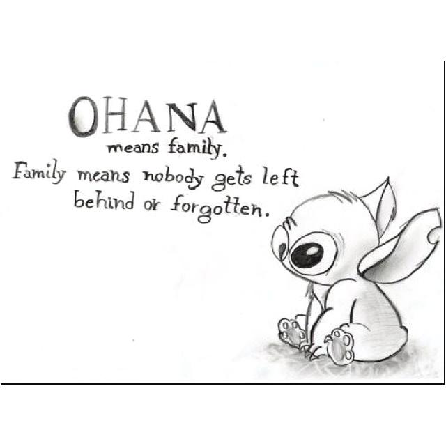 Ohana means family. :)