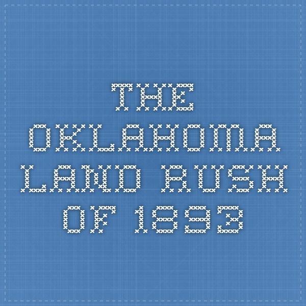 The Oklahoma Land Rush of 1893