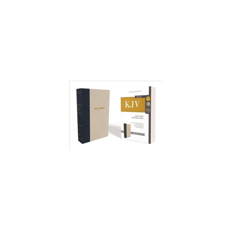 Holy Bible : King James Version, Reference, Giant Print, Navy/Oatmeal Cloth over Board, Red Letter