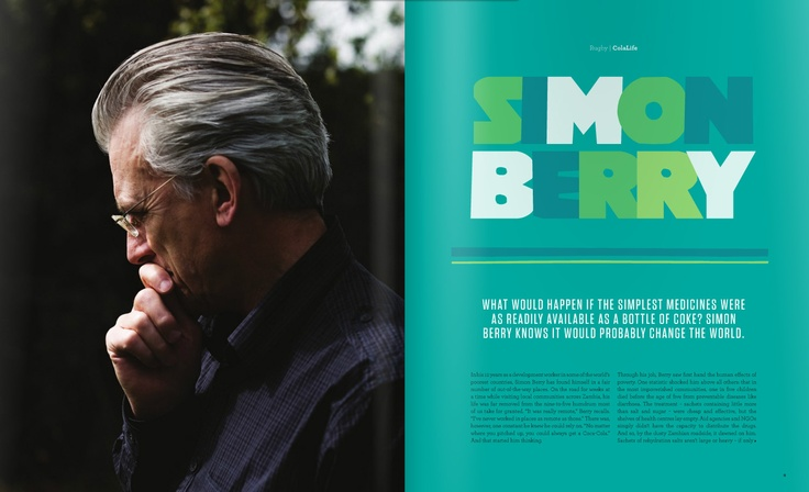 Poleno Typeface in use in a magazine layout /// Design by Dream factory