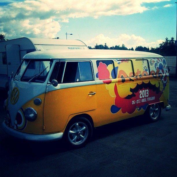 Basic Qstock festival VW minibus #Qstock2013 #Qstock #VW #festival #minibus #staff #working