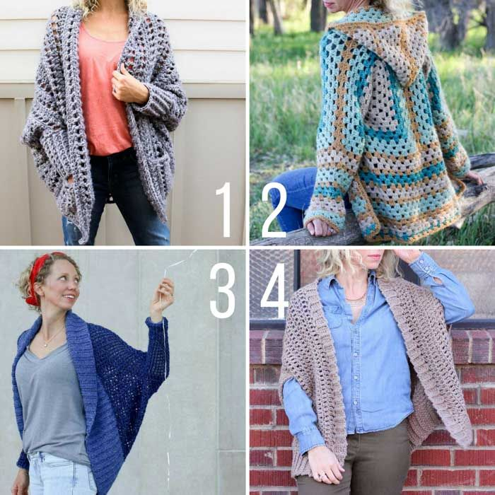 Modern and on-trend free crochet sweater patterns for beginners and more experienced crocheters.