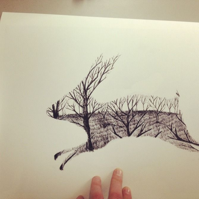 Pick me up rabbit - rabbitportal, Matt Saunders ~ you could do one as a hare though :)