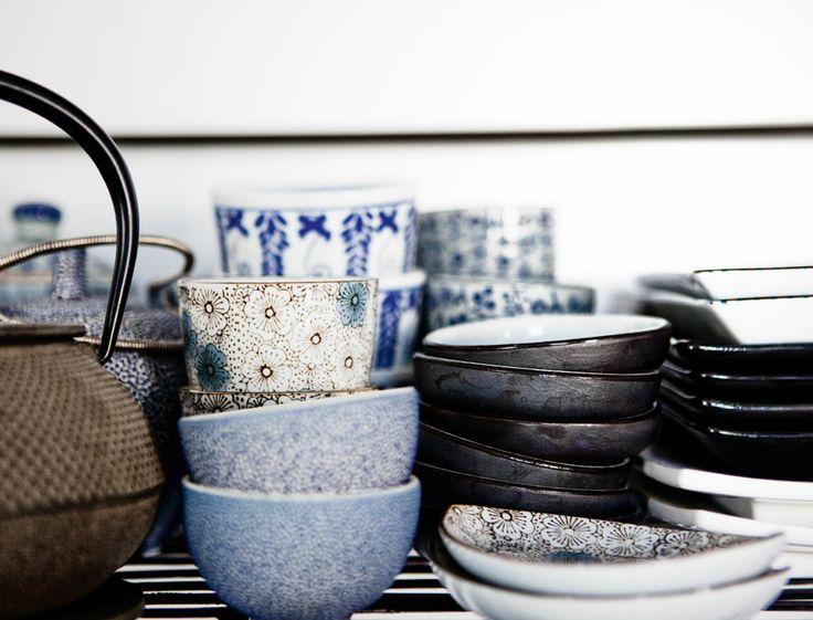 Vaisselle japonaise chinée