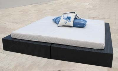 This Tahitian Day Bed fits perfectly in a super relaxed seaside lounge area.