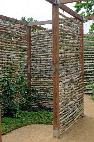 Die besten 25+ Naturzaun Ideen auf Pinterest Hinterhof - gartenabtrennung zum nachbarn
