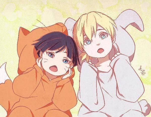 Himawari and Inojin #Naruto