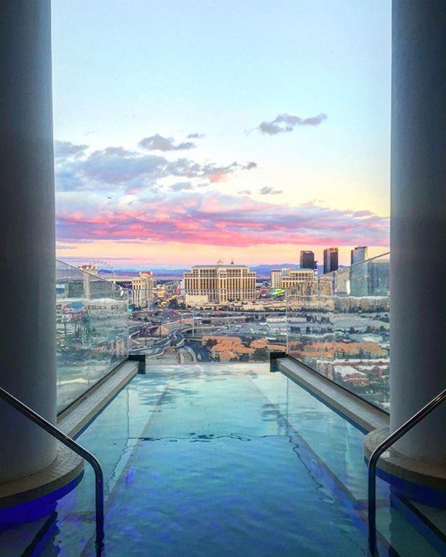 Rainbow skies over @palmscasinoresort in Las Vegas