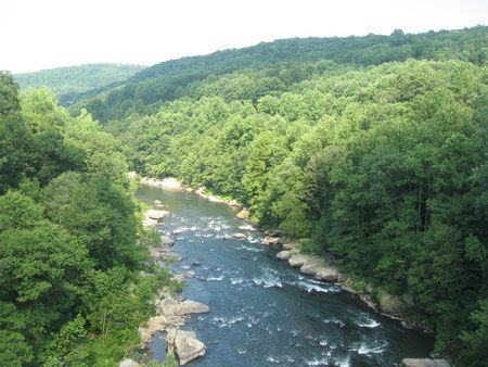 Ohiopyle State Park and the Youghigheny River Bike/Hike Trail in Pennsylvania.