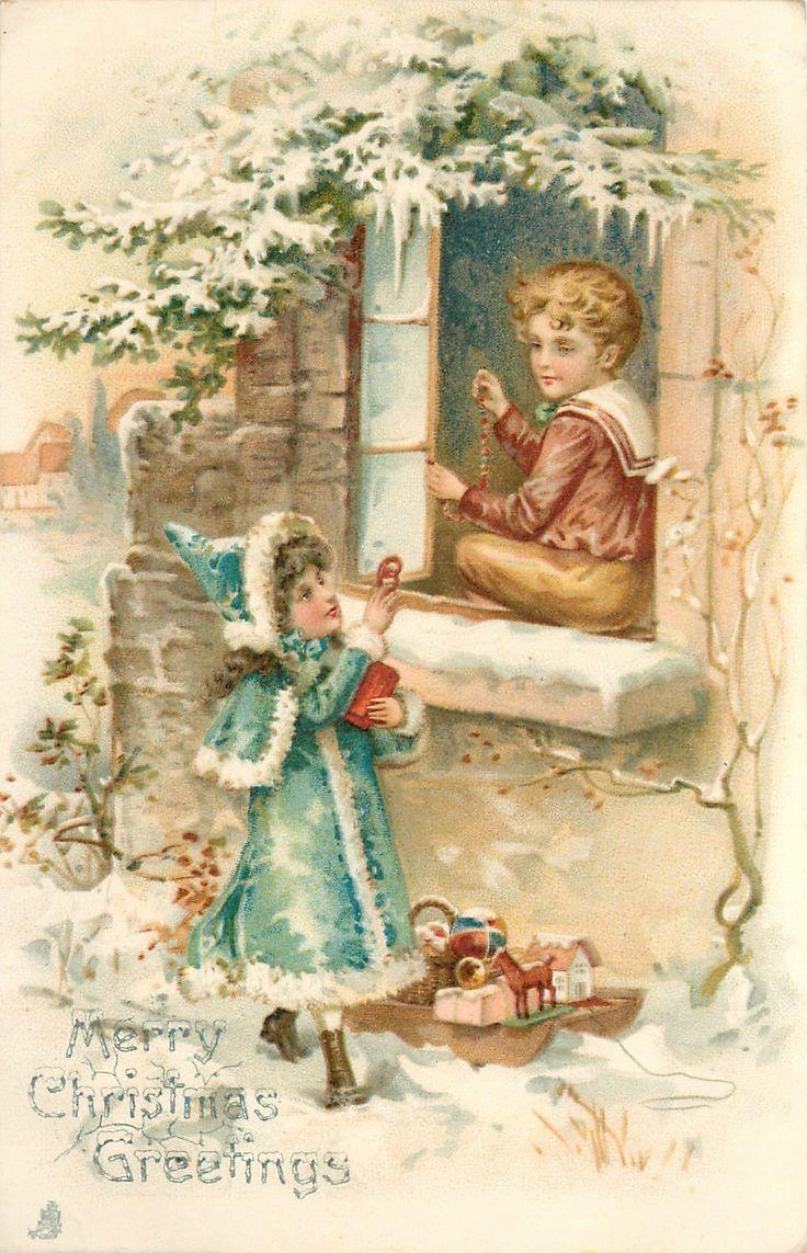 Винтажные новогодние открытки для декупажа, поздравления днем