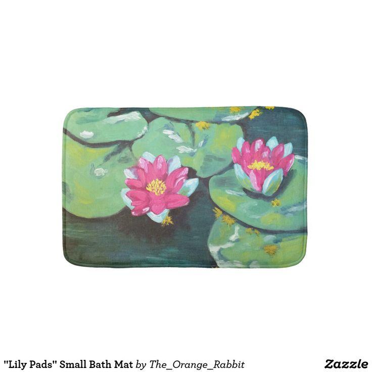 """""""Lily Pads"""" Small Bath Mat"""