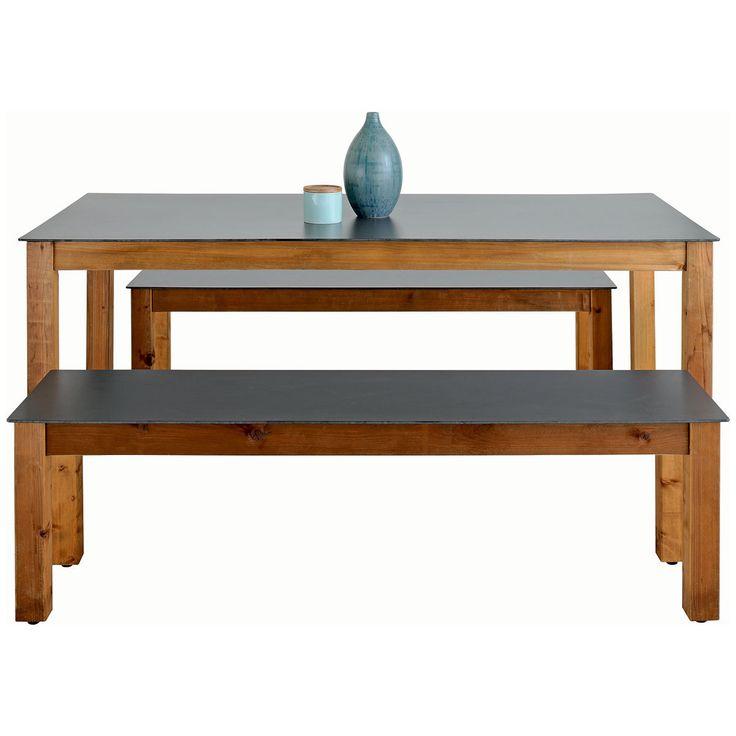 Ensemble de Jardin Neliö 1 Table + 2 Bancs : http://www.maginea.com/fiche/P201601060062.html