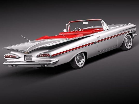 1959 Chevy Impala- This was my second car.  Loved the Butterfly back.  I was popular with the gals with this one  :)
