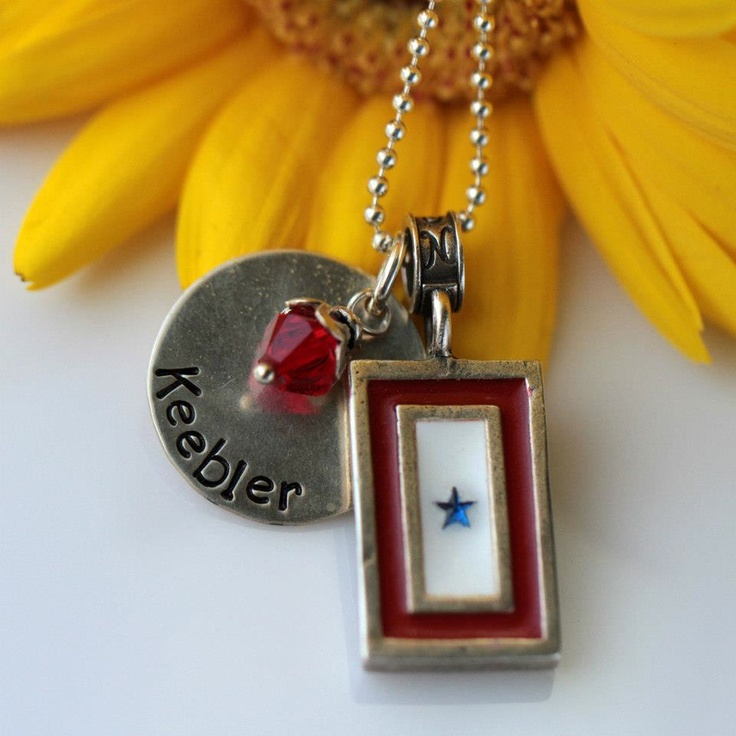 Mother's Day is coming.  This beautiful Blue Star Family charm would be a great gift. - Nomadés Military Jewelry