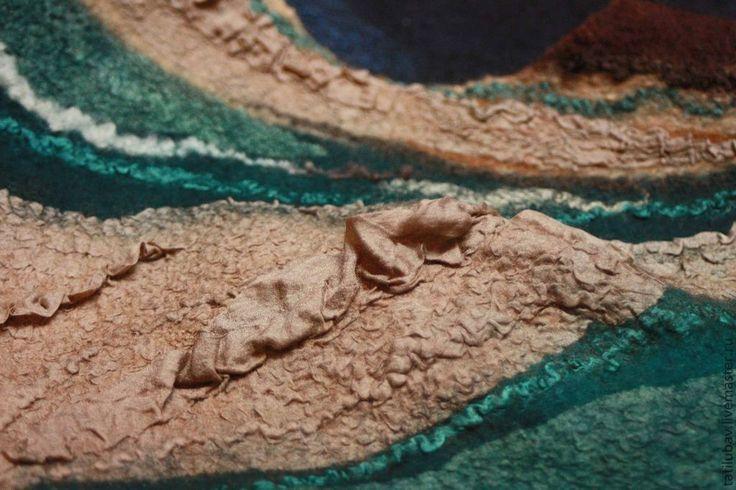 Купить Туника валяная топ Прогулка по старому городу - песочный, песочный цвет, золотисто-коричневый