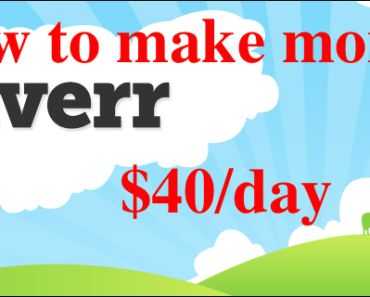 How to make $40 a day with fiverr