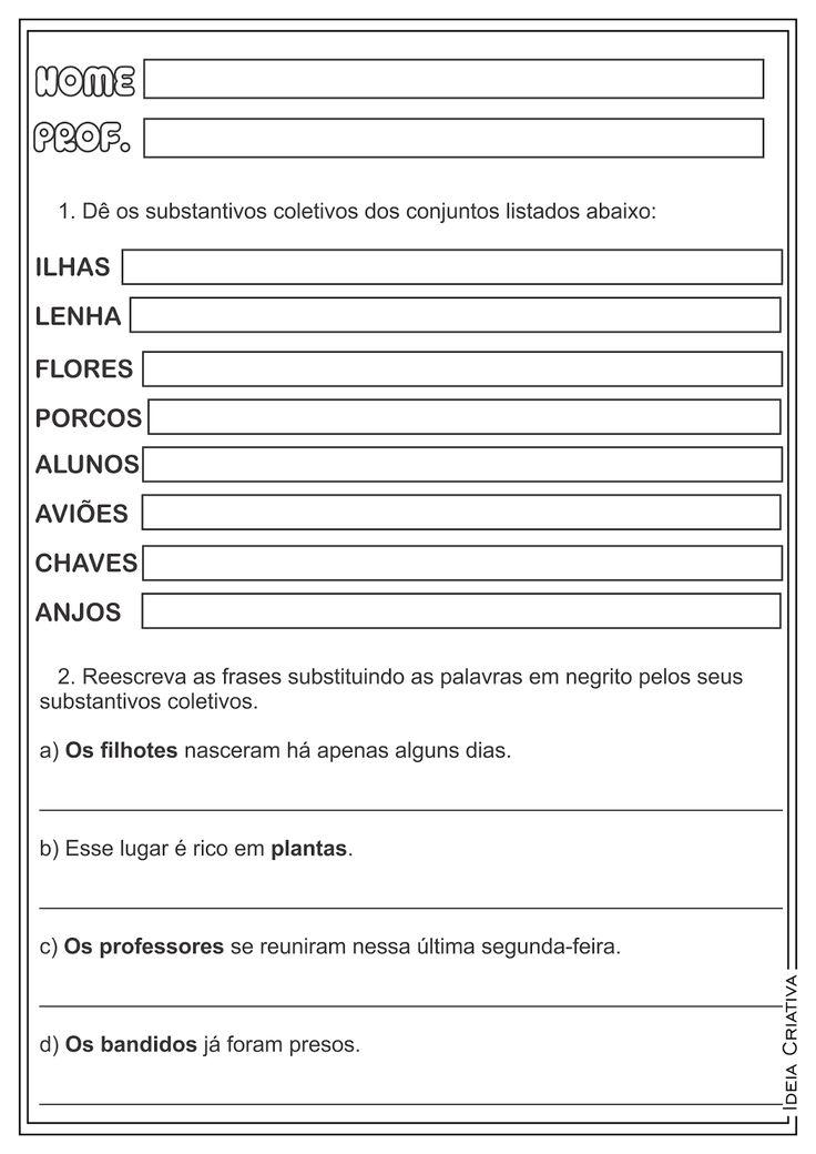 Substantivos coletivos lingua portuguesa