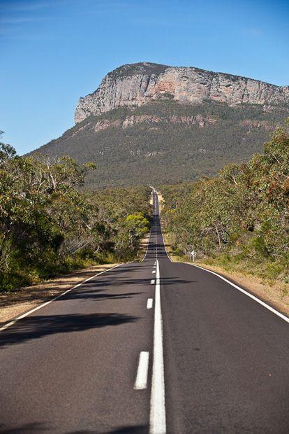 Driving through Grampians National Park towards Mt Abrupt, Victoria - by Bill Bachman