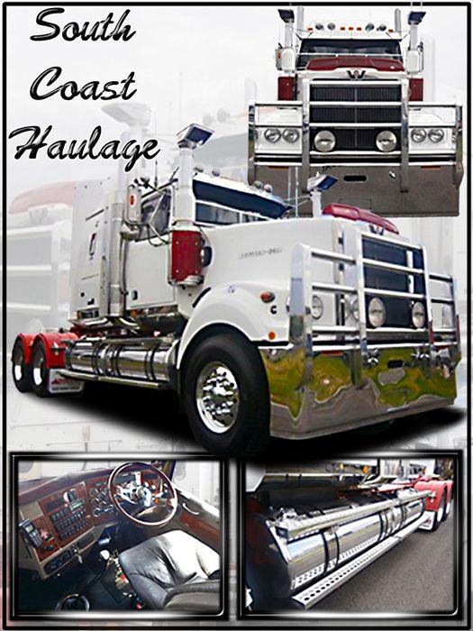 Western Star truck montage show board photo print aluminium