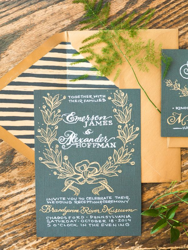 26 best ottawa wedding invitation images on pinterest ottawa gorgeous hand written invitations by kate farley design at the chadds ford andrew wyeth inspired styled shoot stopboris Gallery