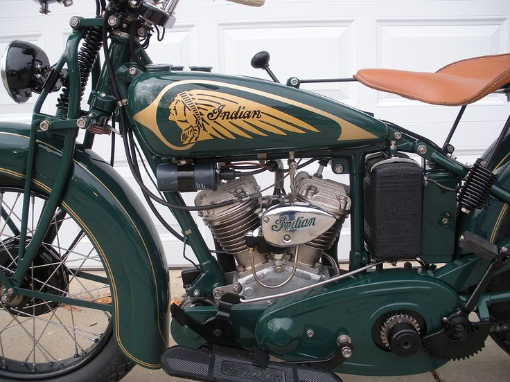 Indian Motorcycle Close Up Of Jr Scout Engine