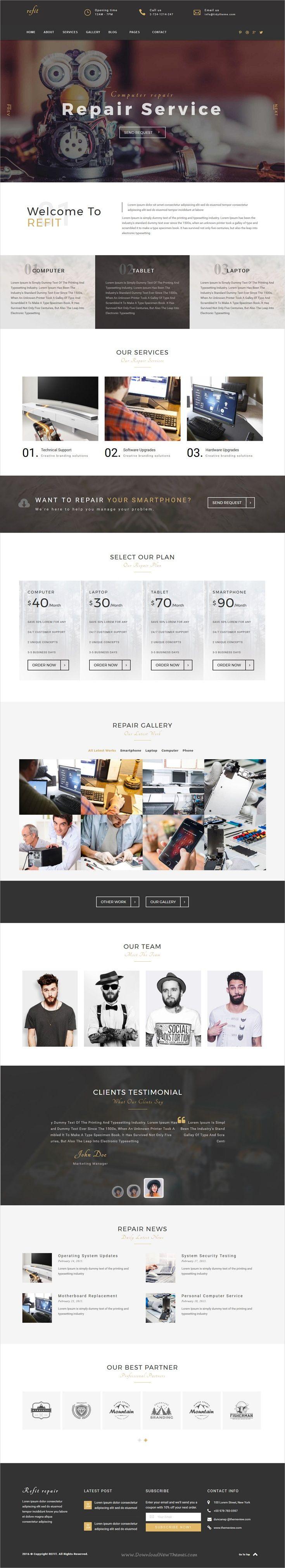 Refit is beautiful responsive #HTML #bootstrap template for phone, computer #repair shop websites download now➩ https://themeforest.net/item/refit-phone-computer-repair-shop-html-template/19354309?ref=Datasata