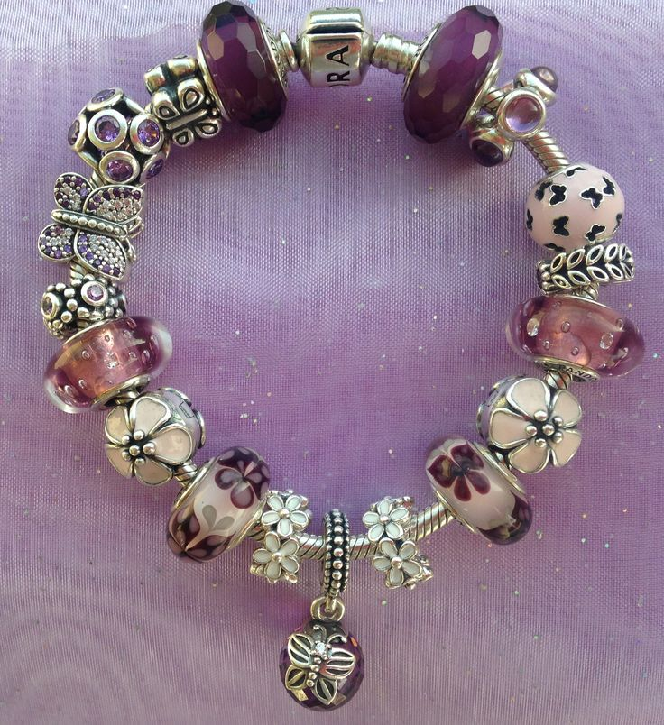 Pandora Purple Butterfly Bracelet