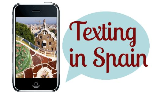 Texting in Spain....to go along w texting activity!!!!