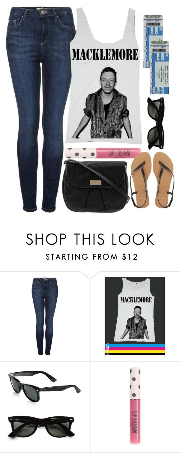 """""""Untitled #315"""" by keisha-xo on Polyvore featuring Topshop, Ray-Ban, Marc by Marc Jacobs, ASOS, concert, macklemore and ryanlewis"""