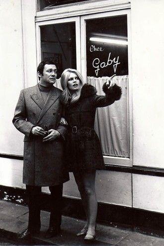 Brigitte Bardot. Cold day. Still looks great.