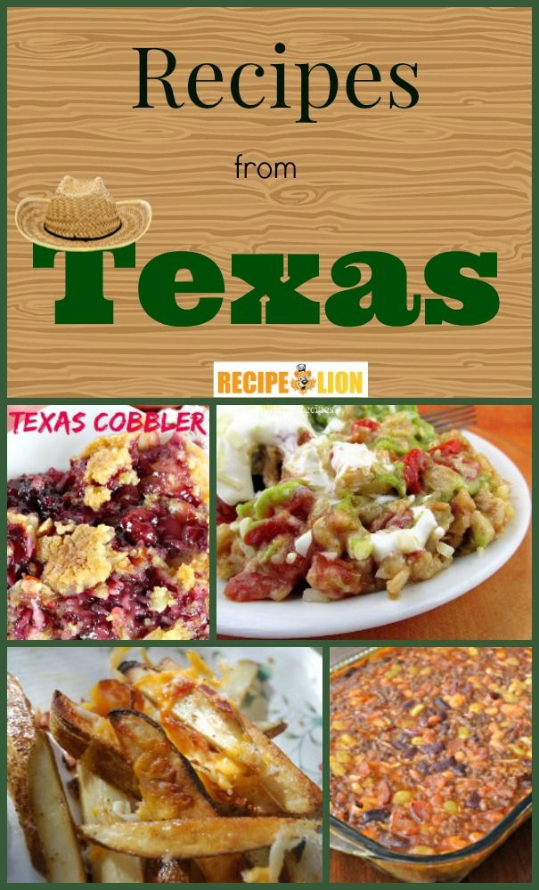 24 Unforgettable Recipes from Texas - sides, main dishes, and desserts.