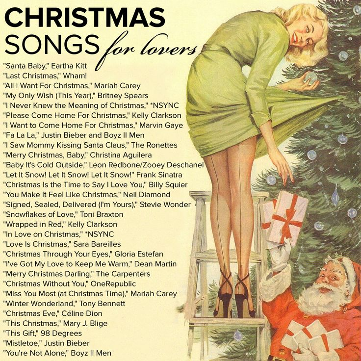 Christmas love songs — get the Spotify playlist here!