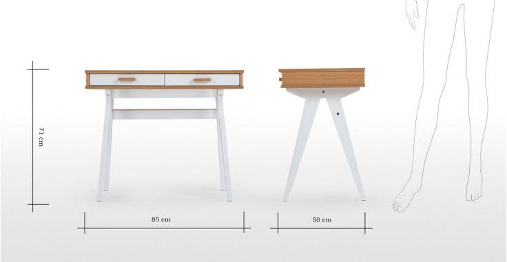 Mini Stroller Schreibtisch für Kinder, Eiche und Weiß   made.com